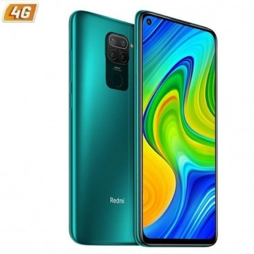SMARTPHONE MÓVIL XIAOMI REDMI NOTE 9 FOREST GREEN - 6.53'/16.5CM - MTK HELIO G85 - 4GB RAM - 128GB - CAM (48+8+2+2)/13 MP - 4G -